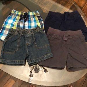 4 Pair 12 Month Boys Shorts